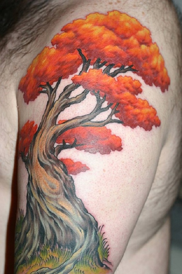 Autumn Tree Tattoo Designs